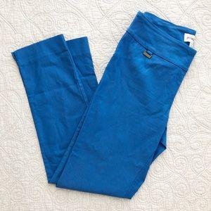 Peck & Peck Bright Blue Pull On Crepe Pants